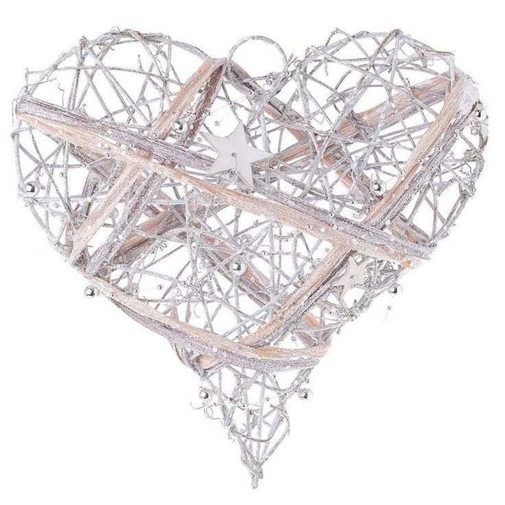 Christmas Wooden Heart Ornament - Balls - Ornaments - Christmas - SEASONAL