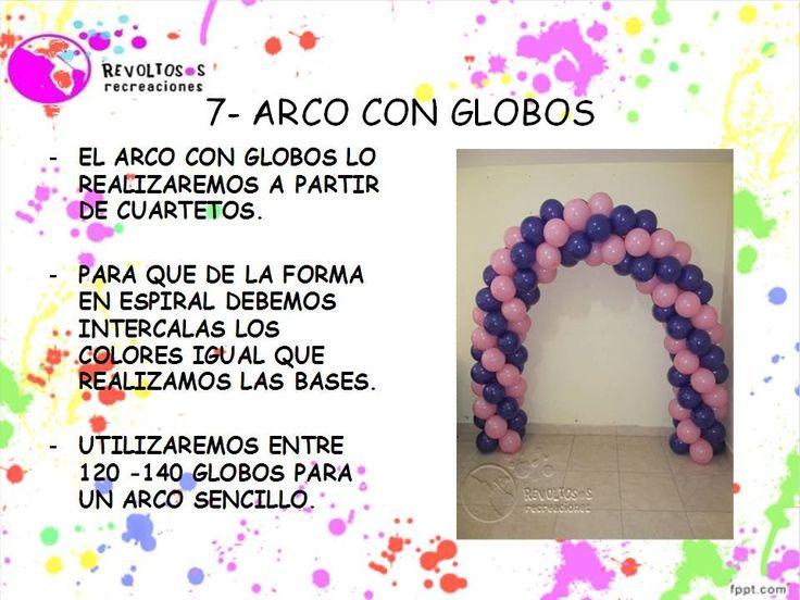 7 | ARCOS CON GLOBOS CURSO DECORACION CON GLOBOS | BALLOON DECORATION CO...