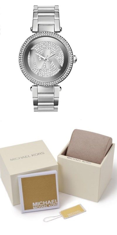 e4600d2e513d Parts and Accessories 51021  Michael Kors Mk5925 Parker Silver Crystal Pave  Dial And Bezel Women S Watch -  BUY IT NOW ONLY   110.99 on  eBay  parts ...