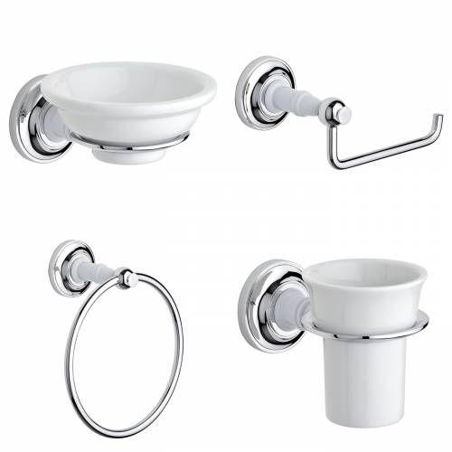 Hudson Reed Ensemble de 4 accessoires de salle de bain