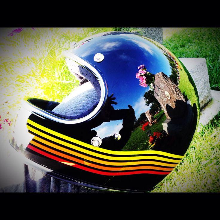 Helmet shot! Special reflection.