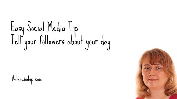 Social Media Marketing Tips: Tell your followers about your day. Day 3 of #30dayvideochallenge