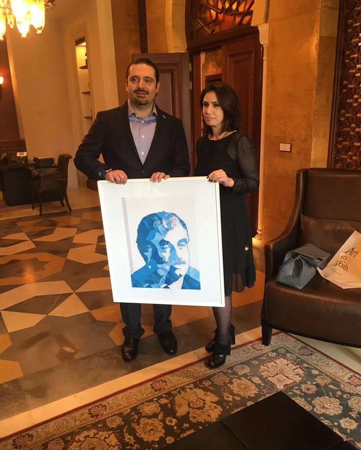 Art on 56th Gallery, Beirut. Finally my painting met with Hariri's son. I wanted to show my respect and my love to Beirut and the person like deceased Mr. Rafic Hariri for his enthusiasm for his country. Warm regards to his family.