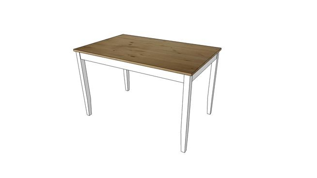 Ikea LERHAMN table - 3D Warehouse