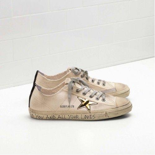 Gunstige GGDB Schuhe Herren Golden Goose V-STAR 2 Sneakers Flag LTD G29MS639.H8 Sale