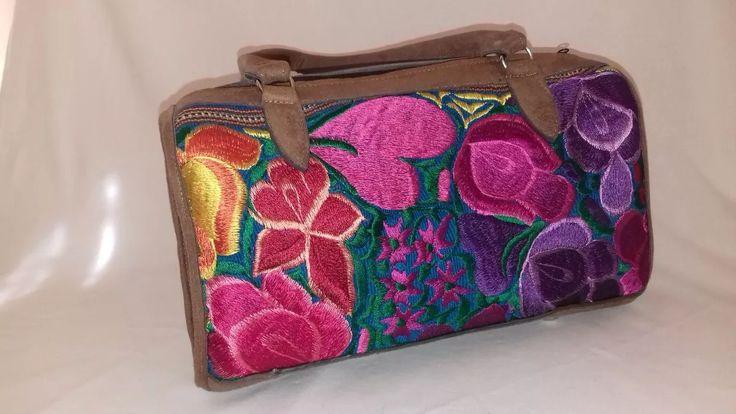 bolsa de mano bordada en maquina