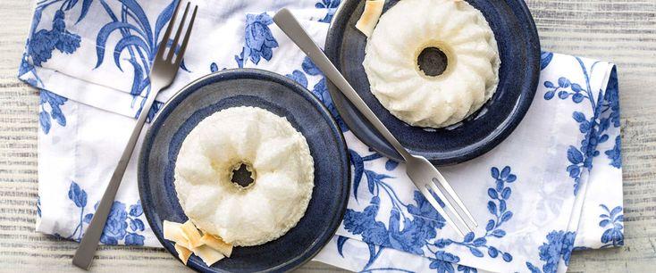 Mini Pudim de Tapioca e Iogurte GREGO com Pedaços de Abacaxi