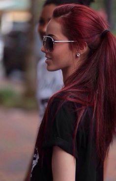 brown crimson hair - Google Search