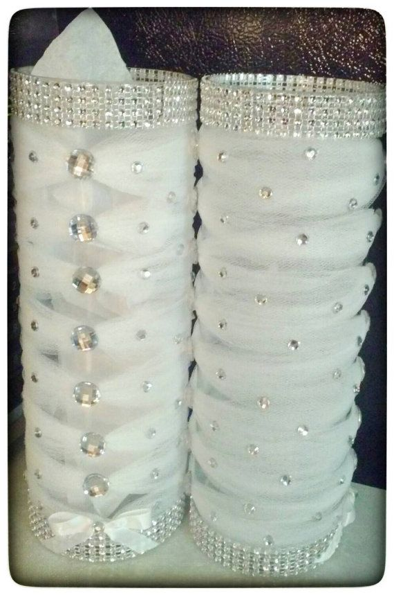 6-Wedding or quinceanera centerpiece vases with by JuicyBalloons