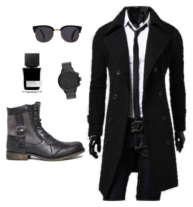 Black Gamer Outfit by geekhoodies on Polyvore featuring Steve Madden, Armani Exchange, Red's Outfitters and MiN New York