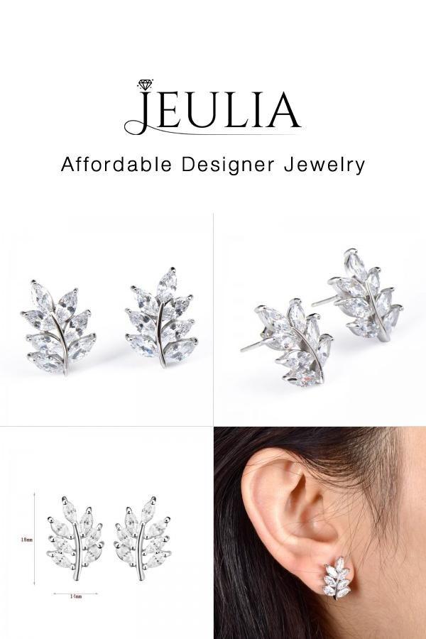 901cc5f6d #Jeulia JEULIA Tree Shape Zircon Women's Earrings Stud Sterling Silver.  Discover more stunning Earrings from Jeulia.com. Shop Now!