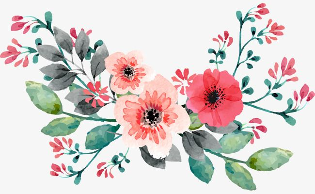 Red Hand Painted Watercolor Rose Flower Vine Invitations 8 Pink