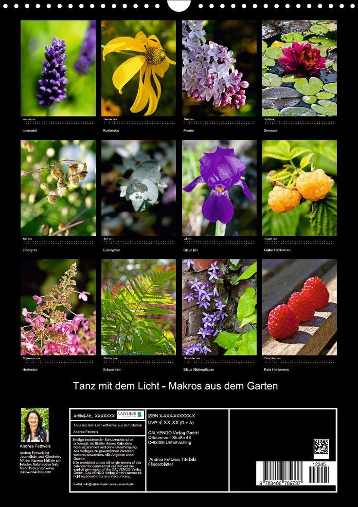 Calendar with garden beauties