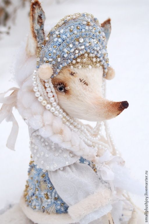 Buy White Fox Belle - white, sky blue, the snow maiden, granddaughter, gift
