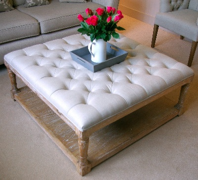 So Pretty Upholstered Coffee Table Delicious