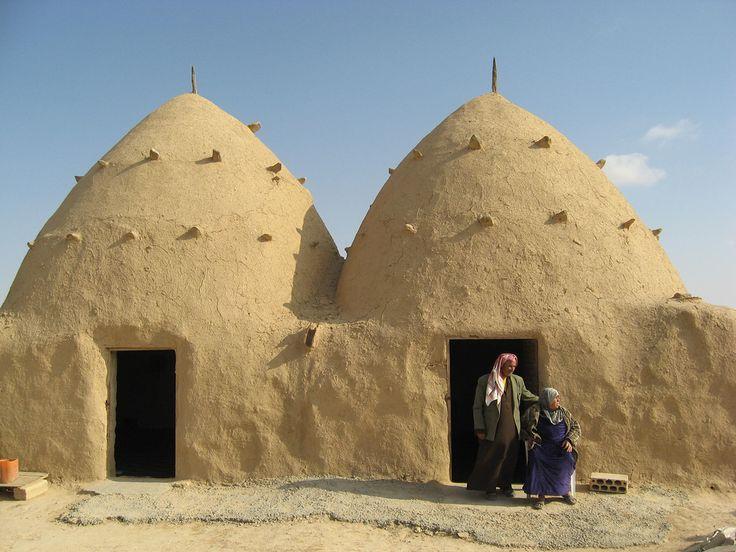traditionele huizen (gemaakt in Syrië)