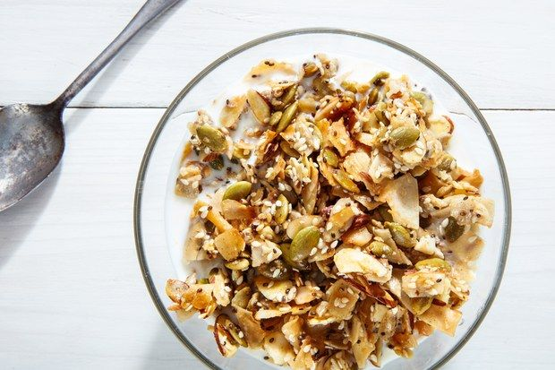 """Whether you're following a grain-free diet or not, this coconut, almond, and mixed seed """"granola"""" is so good you'll never miss the oats."""