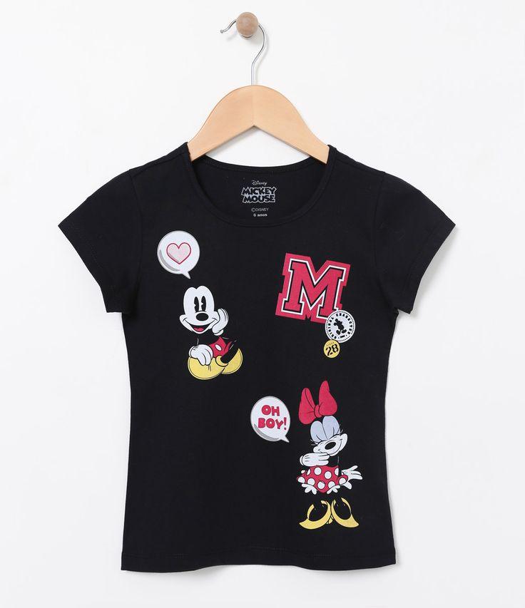 Camiseta Infantil    Manga curta    Gola redonda    Com estampa    Marca: Mickey Mouse    Tecido: meia malha    Composição: 100% algodão          COLEÇÃO VERÃO 2017          Veja outras opções de     produtos Mickey.
