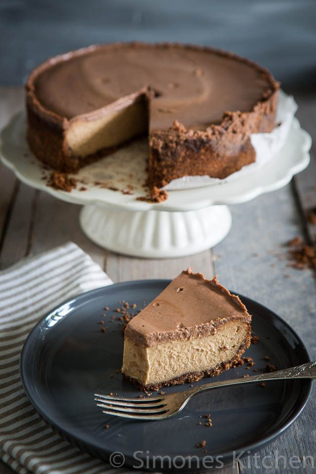 This cheesecake is heavy, and delicious. Dive in if you love the classic peanut and chocolate combo in a rich cake.
