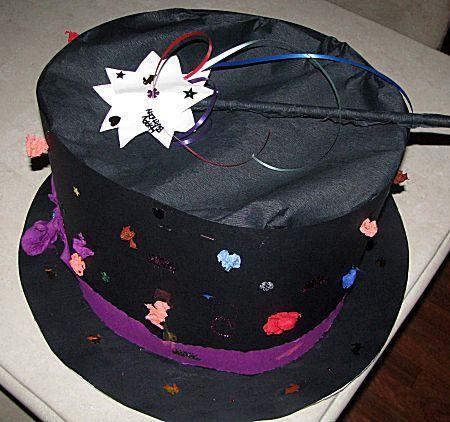 hoge hoed surprise voor de goochelaar