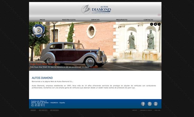 Creación de la página web de 'Autos Diamond'