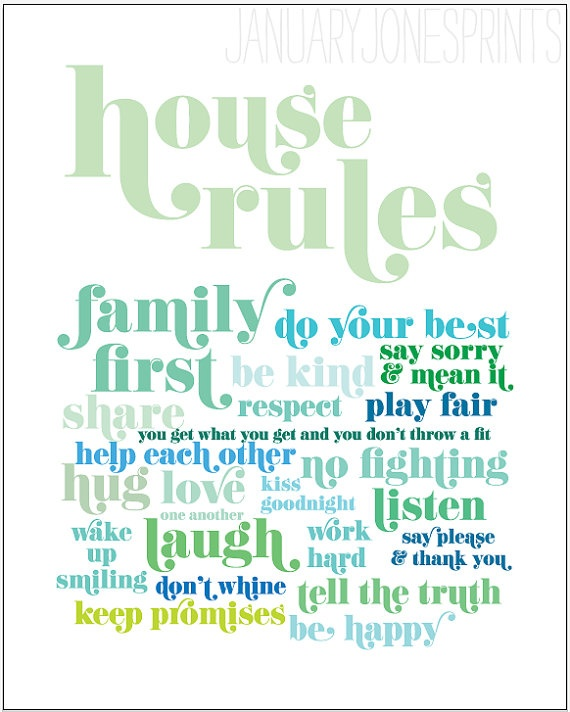 21 rules of this house poster font free