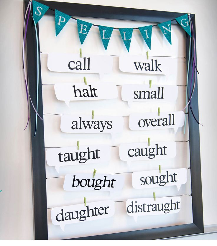 A fun way to display spelling words in your classroom!