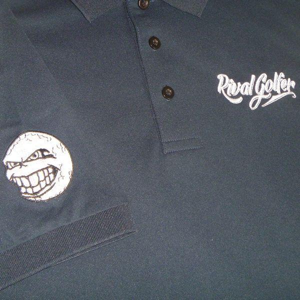 Navy Blue Polo #golf #golfpolo #golfshirt #accessories #golfaccessories #rivalgolfer