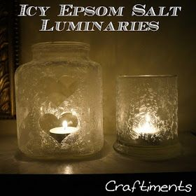 Craftiments:  'Icy' Epsom Salt Luminaries