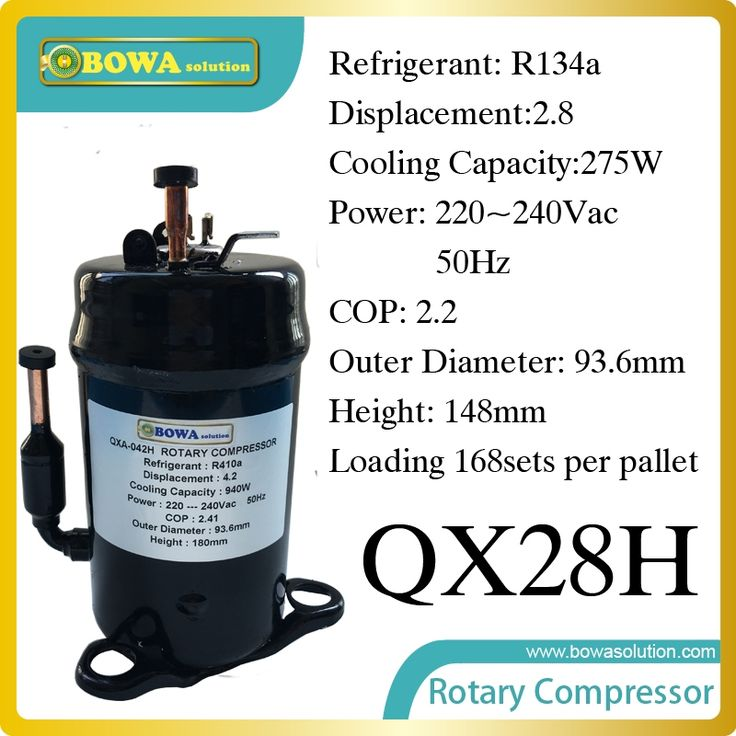 72.87$  Buy here - http://alio3y.worldwells.pw/go.php?t=32646994897 - 275W Cooling capacity Rotary compressor (R134a)  suitable for  cooling street LED lights and large power LED lights 72.87$