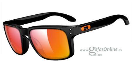 Gafas Online - Sunglasses - Oakley - OAKLEY HOLBROOK - Gafas de sol - Oakley - CUSTOM OO9102 HOLBROOK - MATTE BLACK / RUBY IRIDIUM ICONO TEAM ORANGE