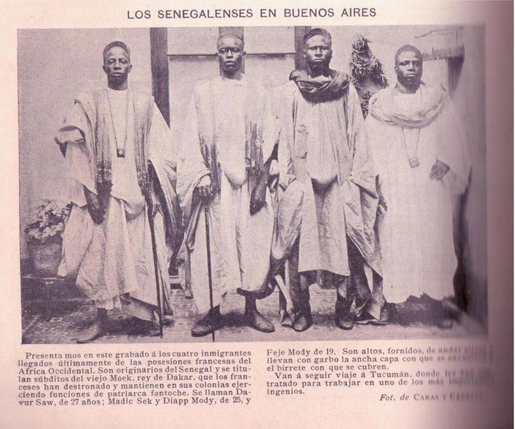Para los que creían que la inmigración senegalesa era reciente (revista Caras y Caretas, 15-04-1899).