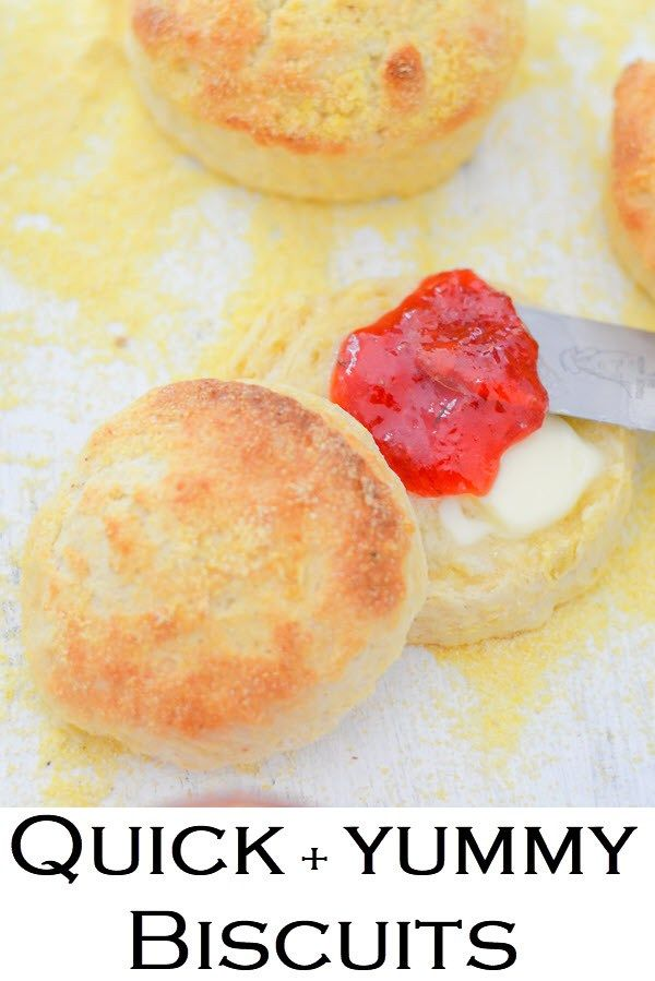 Quick Biscuits. Homemade Butter Biscuits. This fast and easy recipe for delicious cornmeal biscuits is a must in your recipe box. Crunchy biscuits, that come together and cook quickly, this recipe gives flaky biscuits everyone will love. #butterbiscuits #cornmealbiscuits #quickbiscuits #yummybiscuits #butter #cornmeal #quick #yummy #biscuits #homemade #easyrecipe #crunchy #foodblogger #lucismorsels