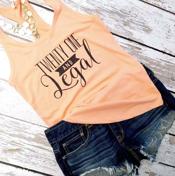Birthday Tank top / 21st Birthday tank / 21st by GandBamApparel