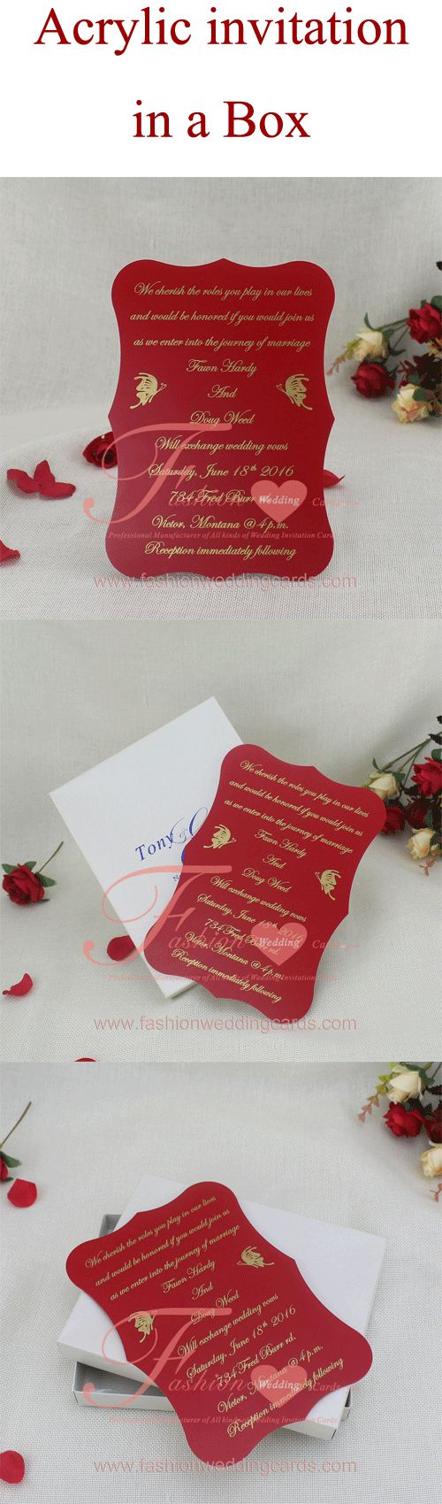 The 8 best Acrylic Wedding Invitations Ideas images on Pinterest ...