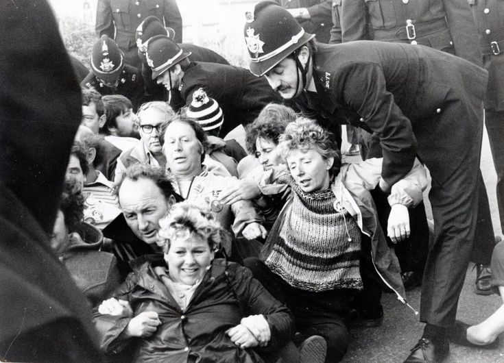 The scenes outside Port Talbot steelworks in 1984 as women protesters, backing the miners strike, are removed by the police