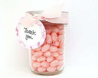 Thank you gift in a jar. You can add whatever you want!