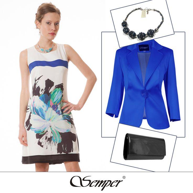 #casual #elegant #fashion #dress #fashionbrand #springfashion #summerfashion #summer2016 #printeddress #blue #outfit #citylook