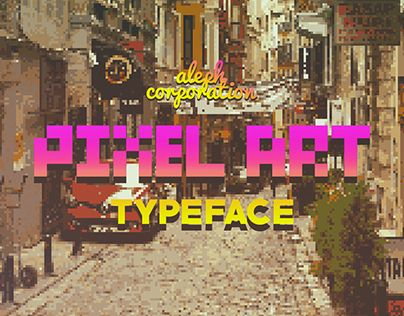 """Check out new work on my @Behance portfolio: """"PIXEL  ART  Typeface  ::  75% off"""" http://be.net/gallery/35673447/PIXEL-ART-Typeface-75-off"""