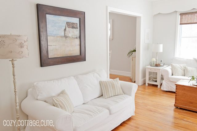 50% gray owl benjamin moore Cozy.Cottage.Cute.: New Living Room / Dining Room Paint Colour