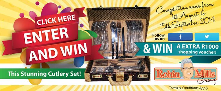Enter competition and stand a chance to WIN this stunning cutlery set AND if you followed our page on F or T you will get an EXTRA R1000 Robin Mills Auction Voucher upon winning!