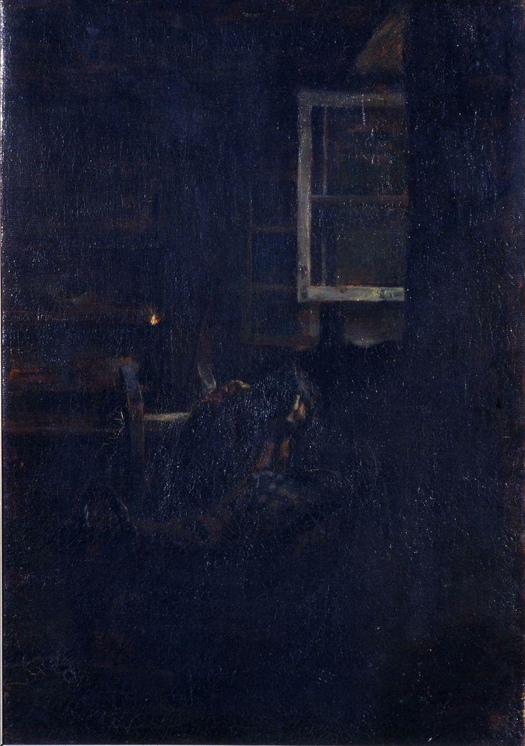 Segantini Giovanni, La culla vuota (Galleria d'Arte Moderna Ricci Oddi, Piacenza)