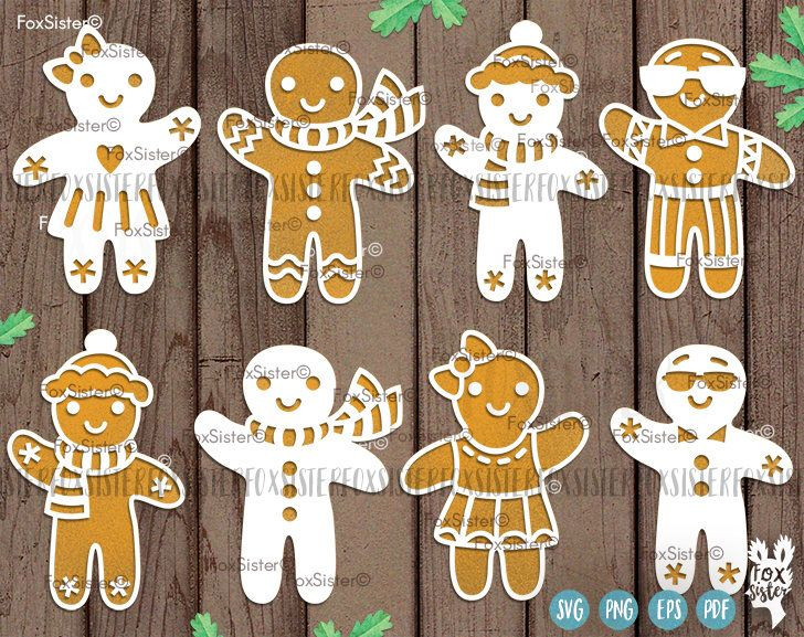 Christmas svg, Gingerbread man SVG Collection! 8 Designs