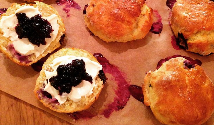 Great British Bake Off finalist Richard Burr provides a twist on a British classic - lemon and blueberry scones.