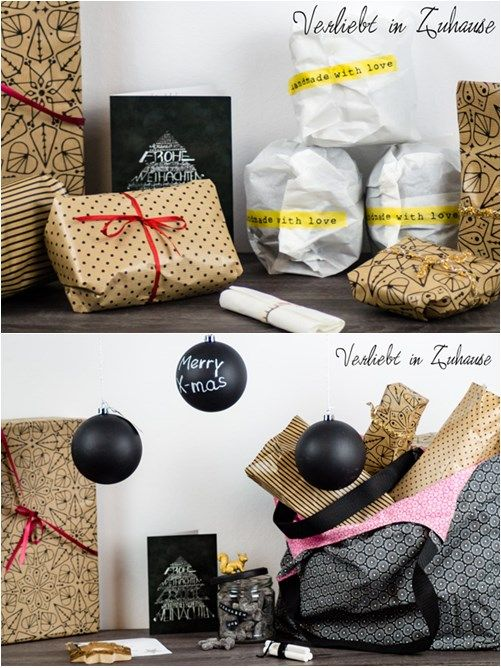 wichtel geschenke weihnachten diy verpacken selber machen tafelfarbe chalkboard paint. Black Bedroom Furniture Sets. Home Design Ideas