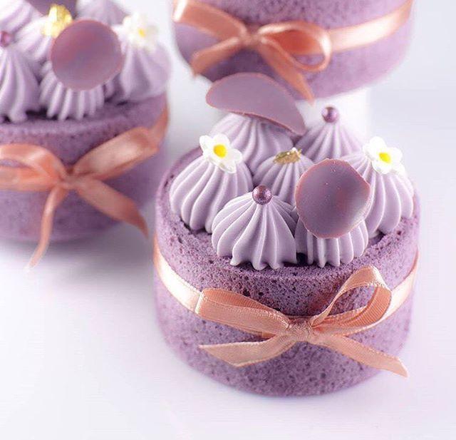 미니 바이올렛 쉬폰 케이크