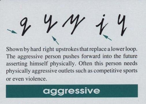 Graphology alphabets