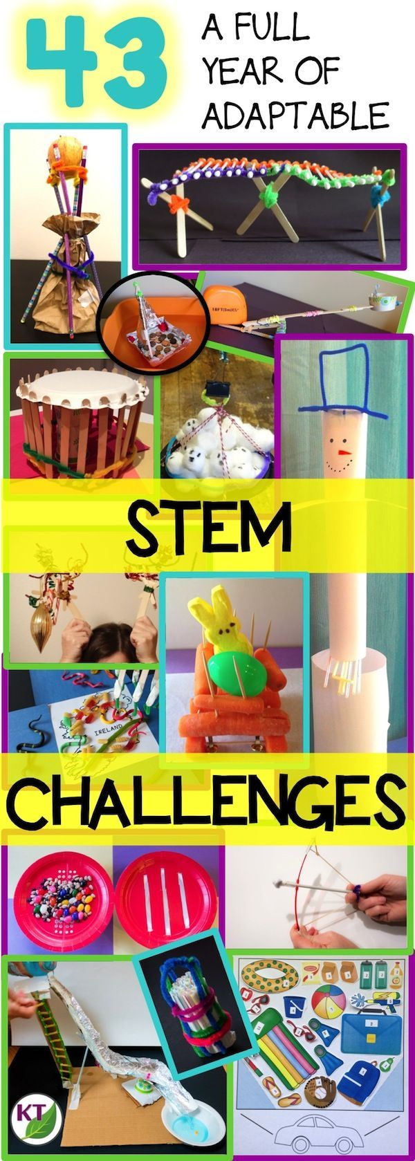 A year of seasonal and anytime STEM challenges: high-engagement, critical thinking, problem solving activities adaptable for grades 2 - 8. Bring excitement and joy back into learning without sacrificing rigor!