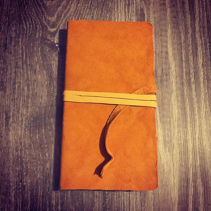 Leather bound notebook from my new / free deer hides