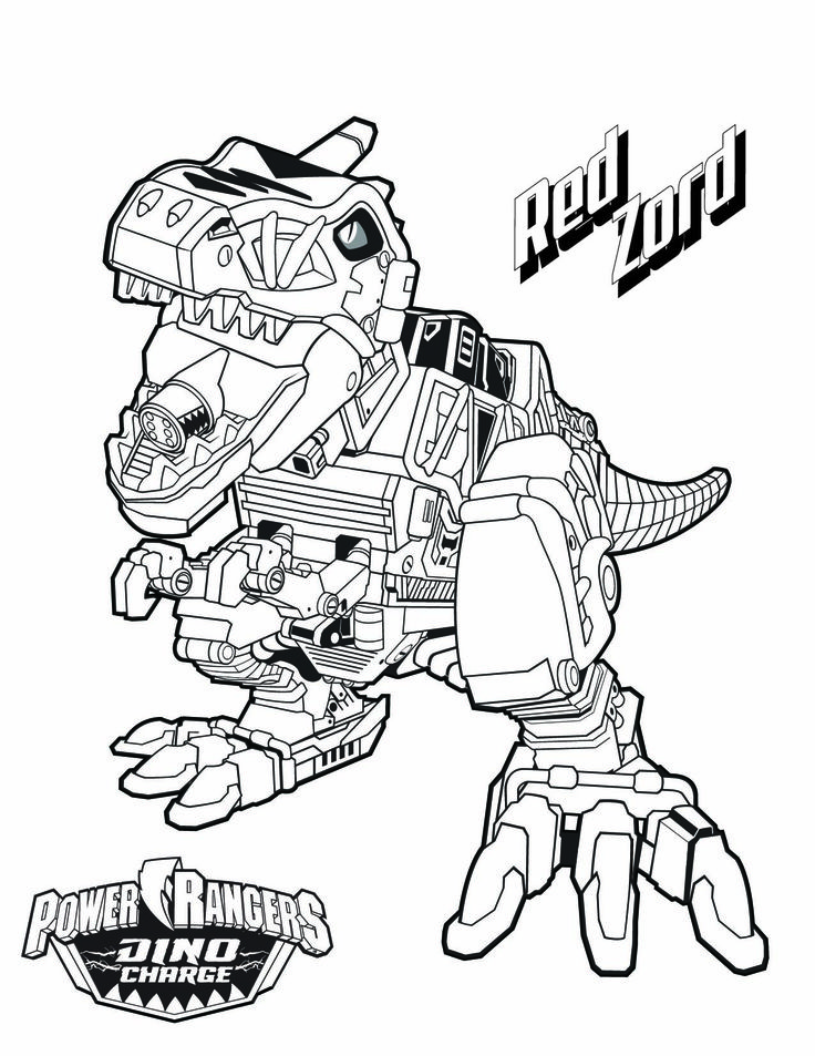 Tyrannosaurus Rex Coloring Page - Power Rangers - The Official Power Rangers Website
